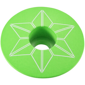 Supacaz Star Capz Ahead Cap Powder-coated neon green